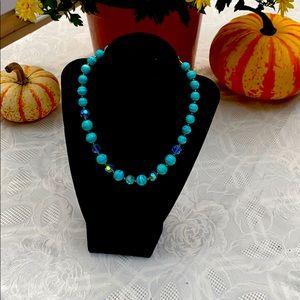 Vintage teal beads